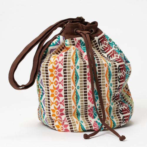 Boho Chic Multicolour Drawstring Bag